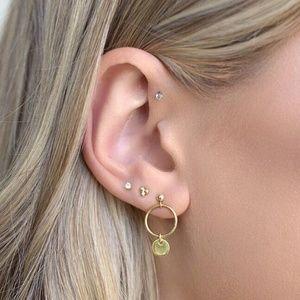 *DALARY* 4-Pc Geometric Gold Fashion Earring Set